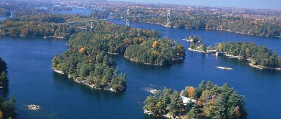 1000 Islands photo from high up